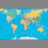 世界地图(景观版)(双全开)